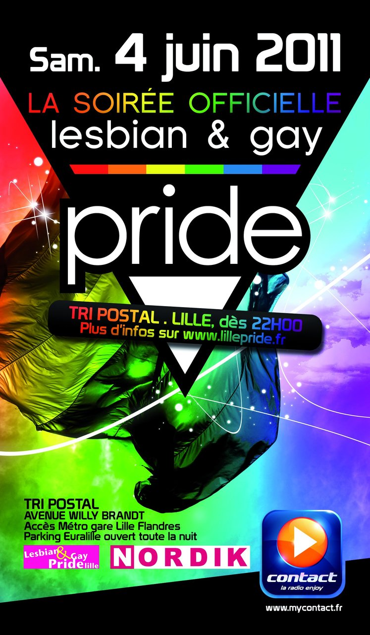 Soiree officielle Gay Pride lille 2011